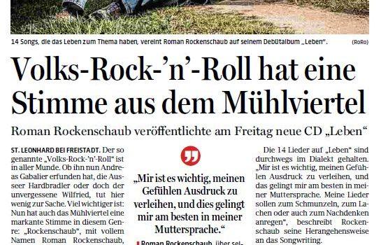 Volks-Rock'n'Roll hat eine Stimme aus dem Mühlviertel